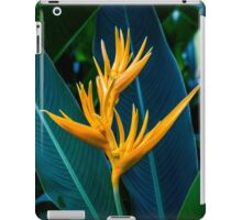 Yellow Florescent Heliconia iPad Case/Skin