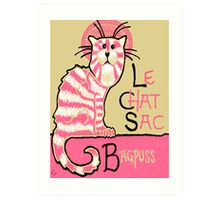 Le Chat Sac Art Print