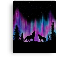 Aurora Wolves 2 by Leslie Berg Canvas Print