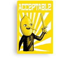 Acceptable, 2014 Canvas Print