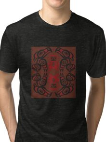 Twin Peaks The Great Northern Lodge Tribal Painting Tri-blend T-Shirt