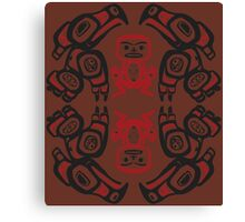 Twin Peaks The Great Northern Lodge Tribal Painting Canvas Print