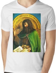 Adoration of the lamb (John the Baptist) Mens V-Neck T-Shirt
