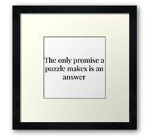 Elementary Puzzle Quote Framed Print