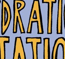 Hyrdration Station Sticker