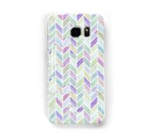 Chevrons in Lavenders & Lime Greens Samsung Galaxy Case/Skin