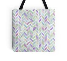 Chevrons in Lavenders & Lime Greens Tote Bag