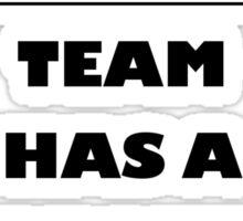 Rugbyplayer's problem Sticker