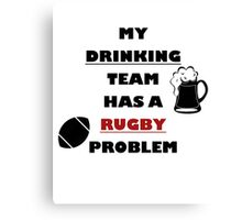 Rugbyplayer's problem Canvas Print
