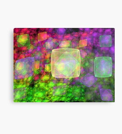 Cube Galaxies Metal Print