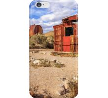 Old Caboose At Rhyolite iPhone Case/Skin