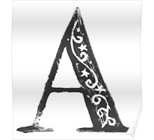 Serif Stamp Type - Letter A Poster