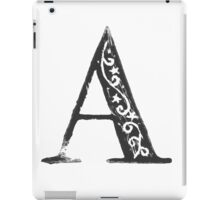 Serif Stamp Type - Letter A iPad Case/Skin