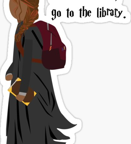 Hermione Granger - When In Doubt, Go To The Library Sticker