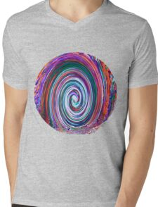 Finding the Wave - Abstract Mens V-Neck T-Shirt