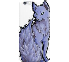 Blue Flame-Tail Wolf iPhone Case/Skin