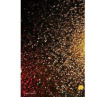 Rainy Night Lights Photographic Print