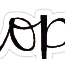 Hope Handwritten Script Sticker
