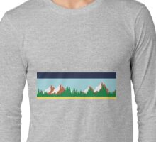 Twin Peaks Sheriff Department Mountain Border Long Sleeve T-Shirt