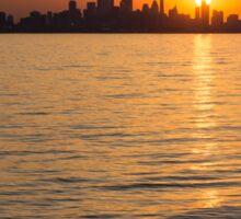 Toronto Skyline - Greeting a Brilliant Summer Sunrise Sticker
