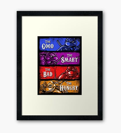 The Good, The Smart, The Bad, and The Hungry Framed Print