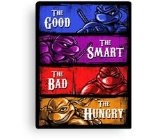The Good, The Smart, The Bad, and The Hungry Canvas Print