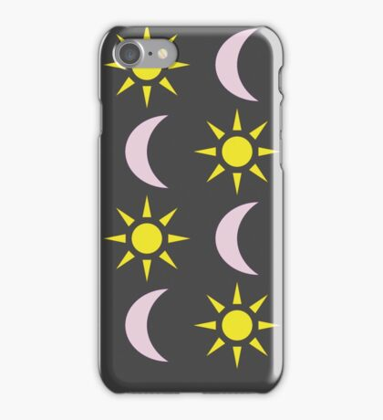 """Suns & Moons"" pattern iPhone Case/Skin"