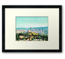 San Francisco Sunshine, San Francisco Skyline Picture Framed Print