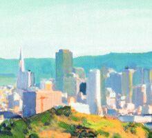 San Francisco Sunshine, San Francisco Skyline Picture Sticker