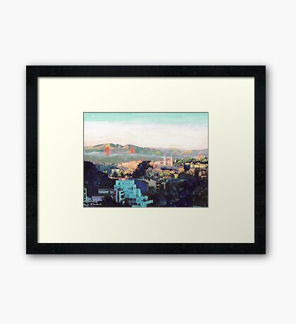 San Francisco California Picture, North to Goldengate Framed Print