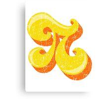 Retro-Flavored Pi GRUNGE Canvas Print