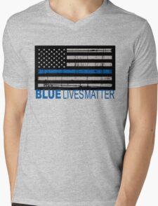 Blue Lives Matter Mens V-Neck T-Shirt