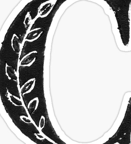 Serif Stamp Type - Letter C Sticker