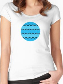 WAVE PATTERN Women's Fitted Scoop T-Shirt