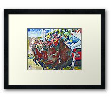 And Theyre Off! Horse Racing Picture Framed Print