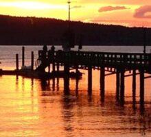 Orcas Island Sunset Sticker