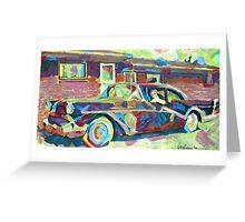 Grandma's Here! Classic car Picture Greeting Card