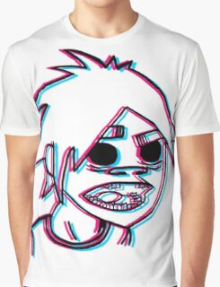 2-D in 3-D Graphic T-Shirt