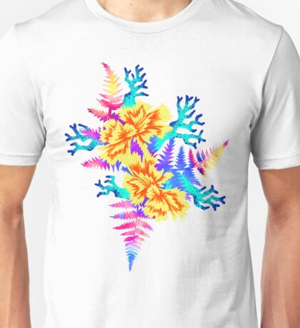 Coral Carnation - Yellow/Blue Unisex T-Shirt