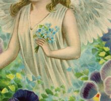 Angel fairy pansies Sticker