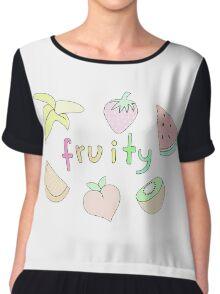 Fruity Chiffon Top