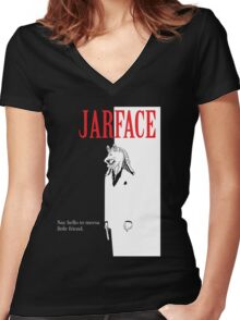 JARFACE Women's Fitted V-Neck T-Shirt