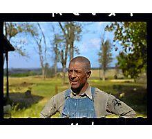"""Negro tenant farmer"" in Jefferson County, Kansas, 1938. Photographic Print"