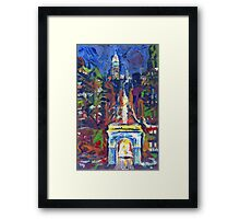 New York City Picture, Washington Square and Fifth Avenue Framed Print