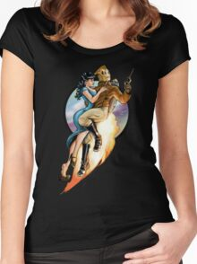 flaming skies Women's Fitted Scoop T-Shirt