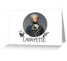 Lafayette Guns and Ships Greeting Card