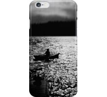 BANTAM LAKE EVENING WITH RAIN IN THE HILLS iPhone Case/Skin