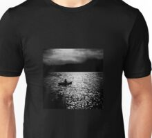 BANTAM LAKE EVENING WITH RAIN IN THE HILLS Unisex T-Shirt
