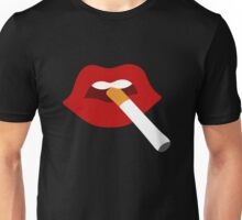 Cigarette Lips Unisex T-Shirt
