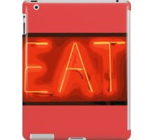 yellow/red eat sign iPad Case/Skin